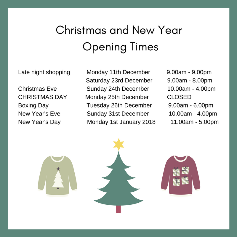 Christmas And New Year Opening Times Monks Cross Shopping