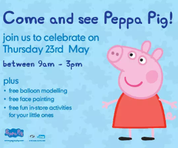 Come And See Peppa Pig Monks Cross Shopping
