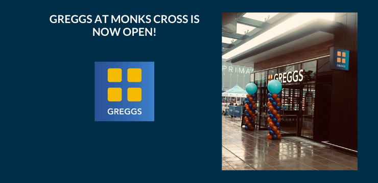 Greggs at Monks Cross is now Open