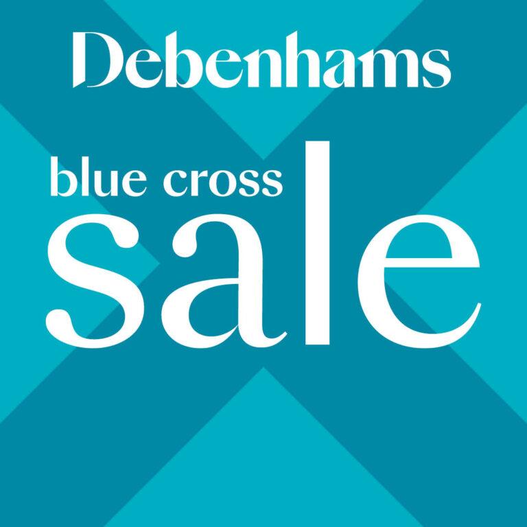 Debenhams Blue Cross Sale